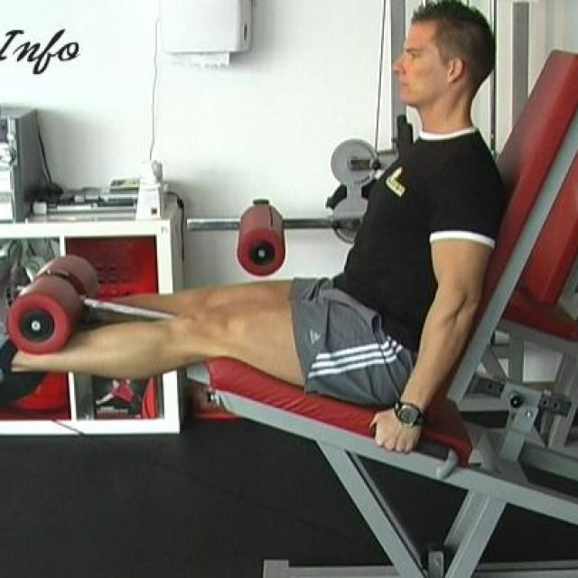 Izteg kolena sede